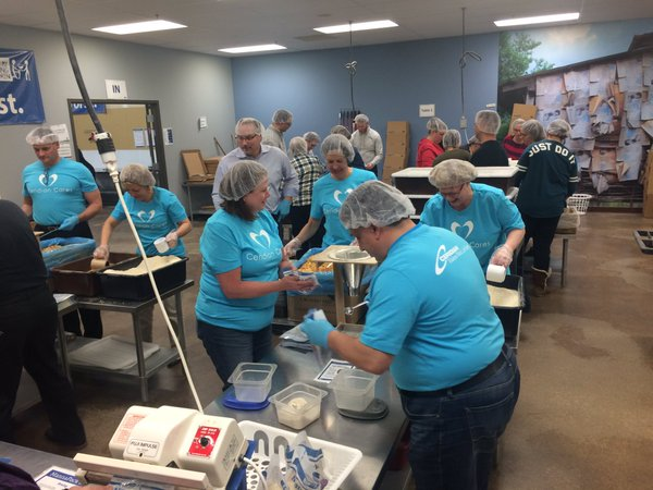 Lars Engman 23544 meals packed for starving children
